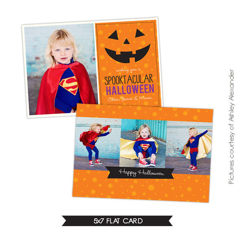 Halloween Photocard Template | Spooktacular e534