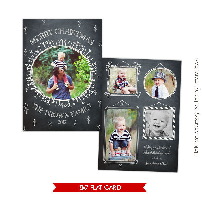 Holiday Photocard Template | Starry Night e555
