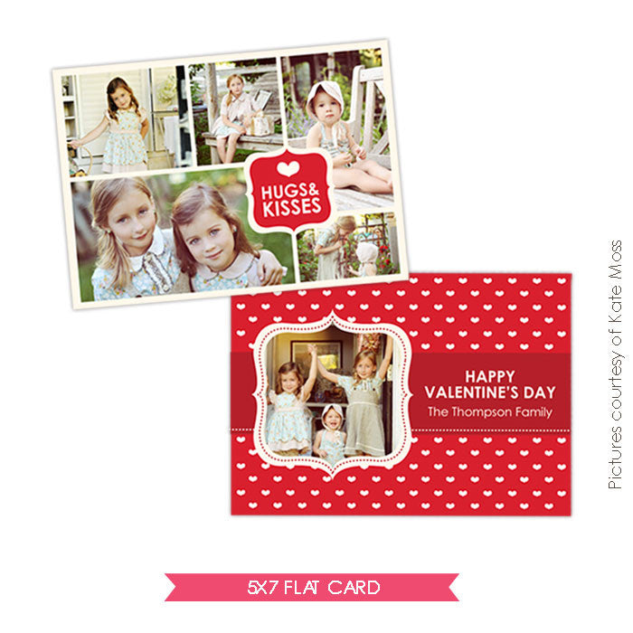 Valentine Photocard Template | Sweet Kisses e285