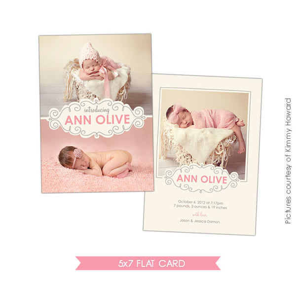 Birth Announcement | Sweet Pea e426