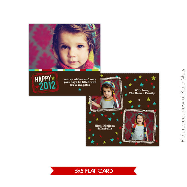 Holiday Photocard Template | Sweet wishes e183