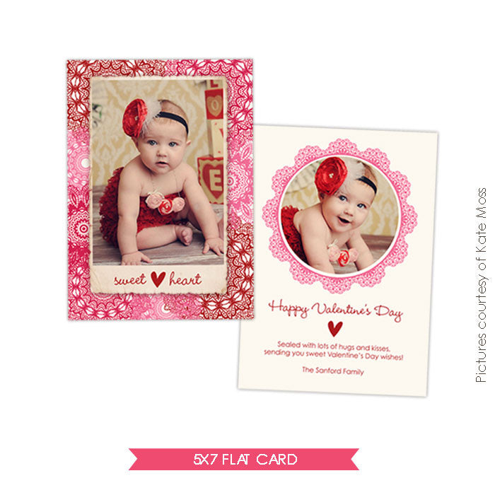 Valentine Photocard Template | Sweetheart e265