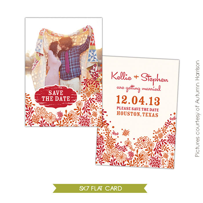 Unique love | Save the date card e302