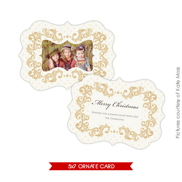 Holiday Ornate Photocard | Vanilla  e174