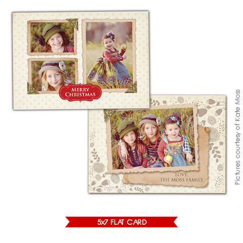Holiday Ornate Photocard  | Vintage girls e233