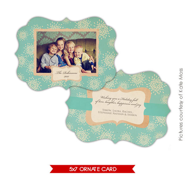 Holiday Ornate Photocard | Vintage Union e130
