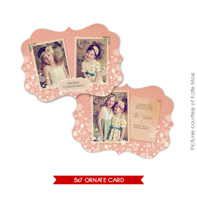 Holiday Ornate Photocard | Vintage style e129