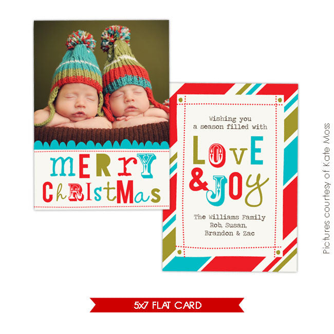 Holiday Photocard Template | Whimsy Christmas e212