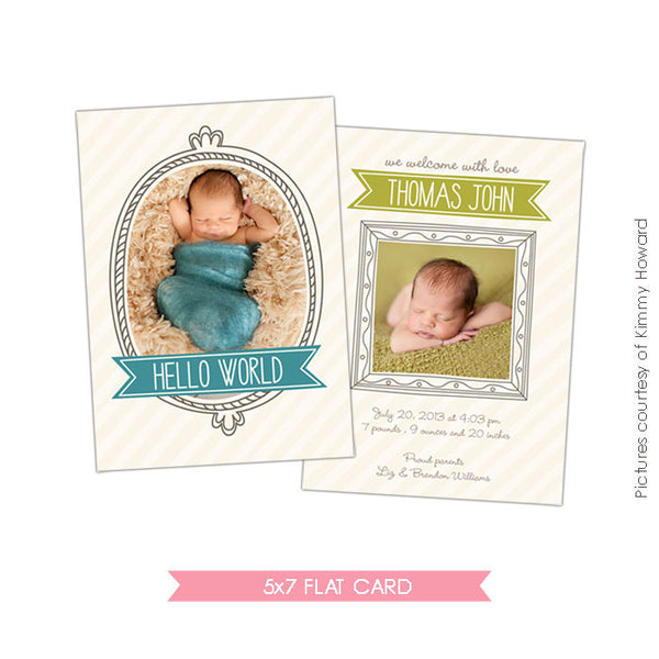 Birth Announcement | Whimsy boy e425