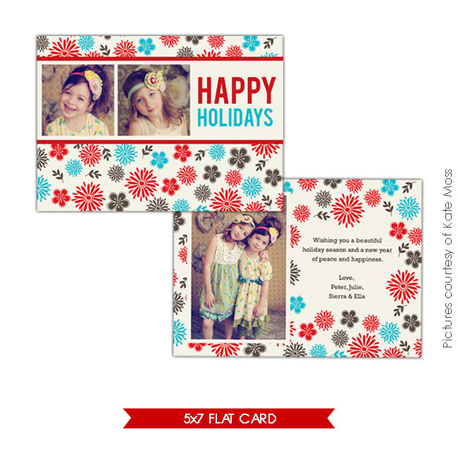 Holiday Photocard | Winter flowers e169