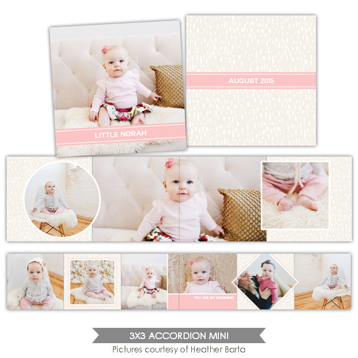 Neutral accordion mini 3x3 | Sweet palette e1002