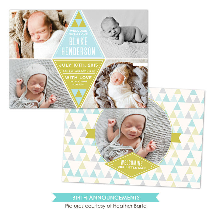 Birth Announcement | Diamond announcement e1051