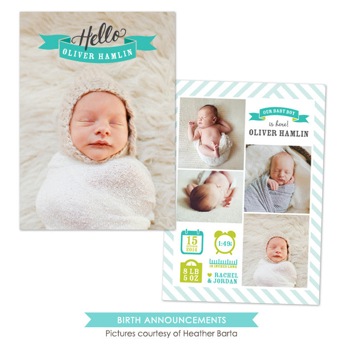 Birth Announcement | Hello board e1052