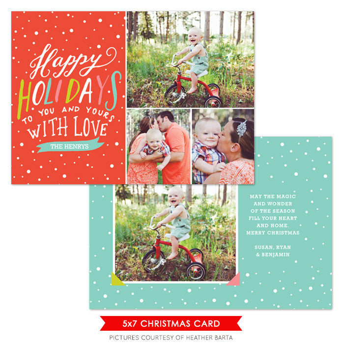 Christmas Photocard Template | Trendy Holidays e1083