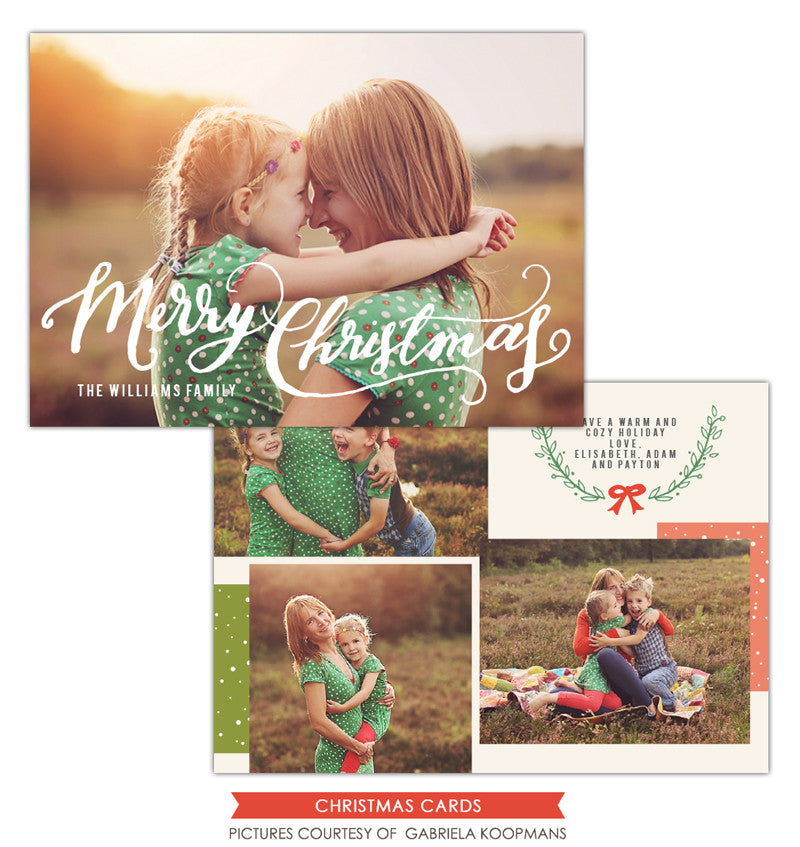 Christmas Photocard Template | Cozy Christmas e1124