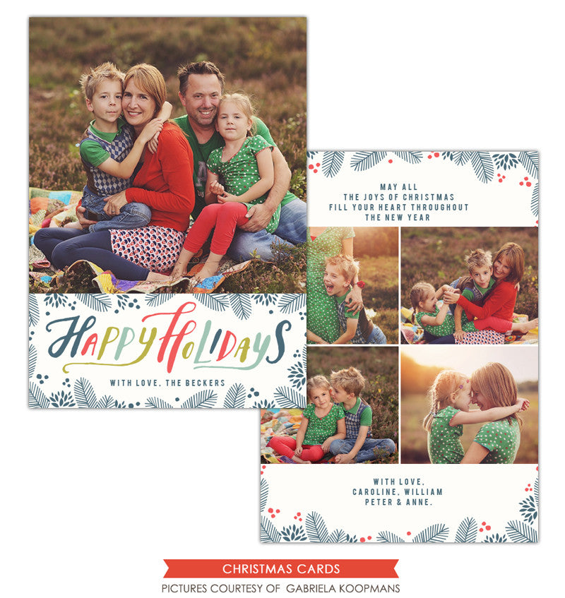 Christmas Photocard Template | Winter Wishes e1127