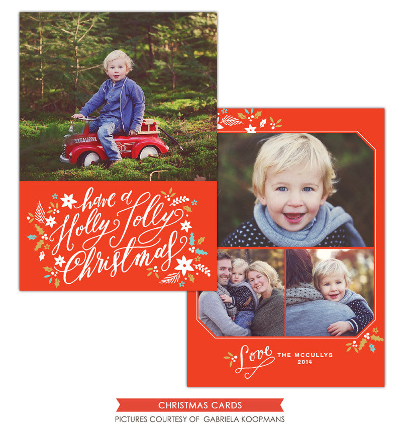 Christmas Photocard Template | Jolly Christmas e1128