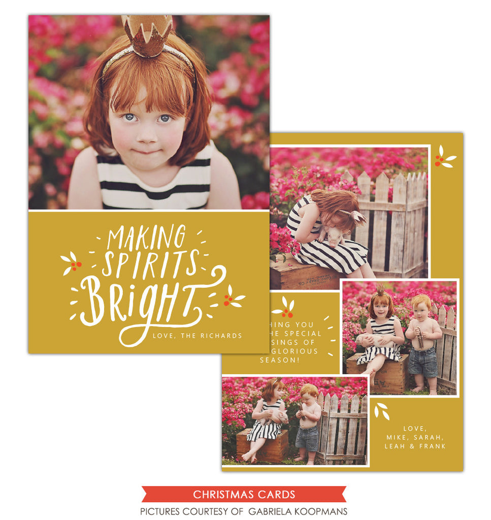 Christmas Photocard Template | Making Spirits Bright e1132