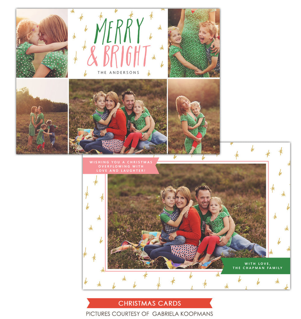 Christmas Photocard Template | Bright Memories e1135