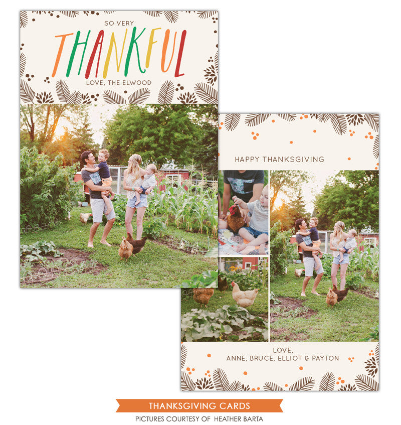 Thanksgiving Card Template | Thankful e1149