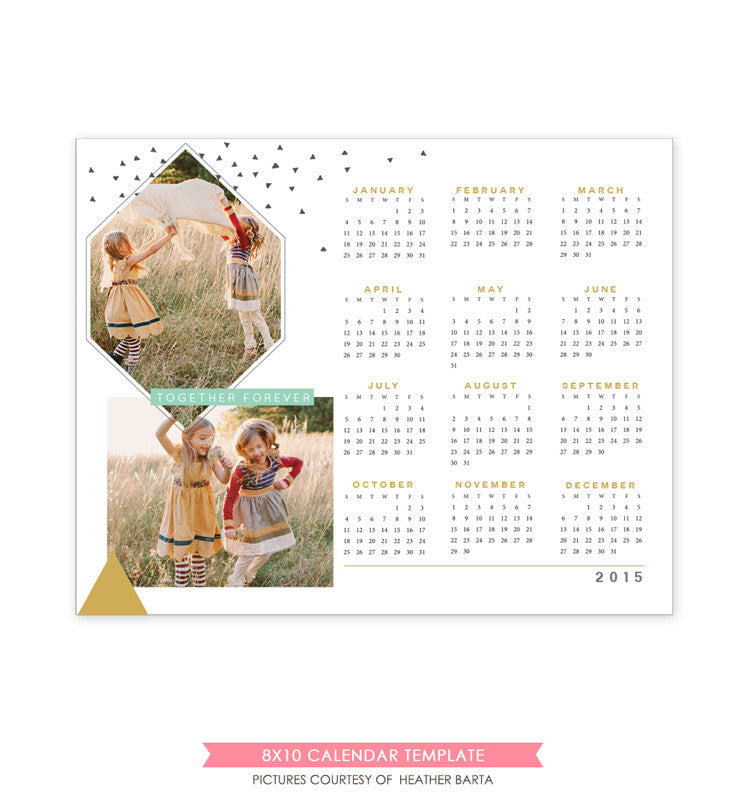 8x10 2015 calendar template | Together forever e1177