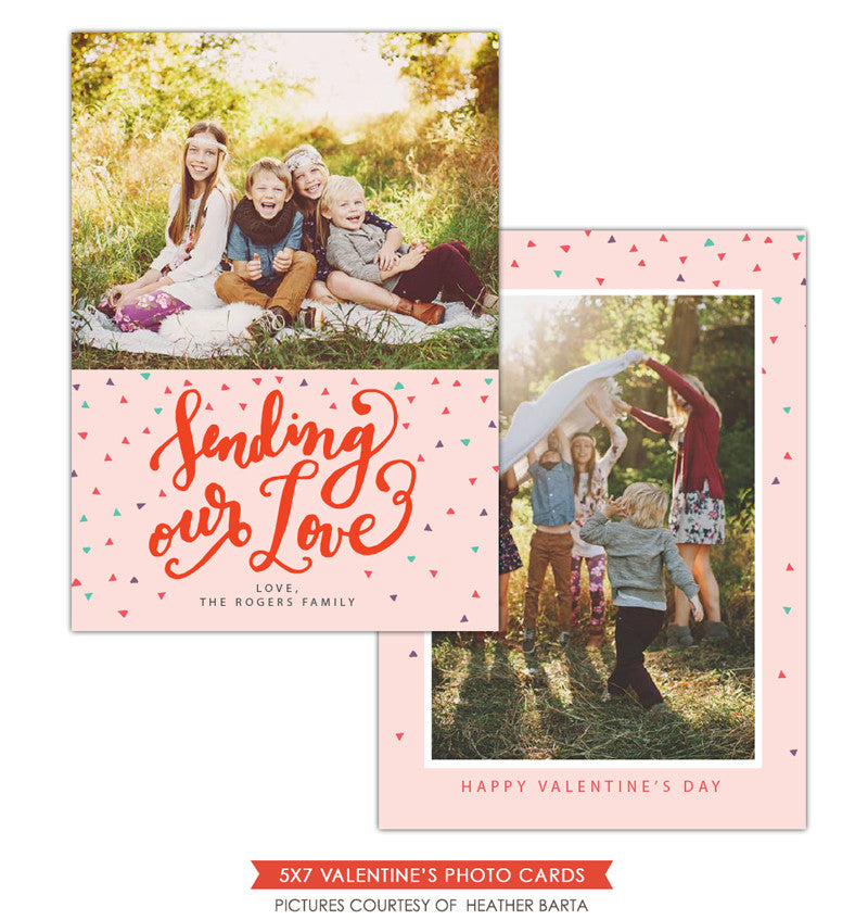 Valentine Photocard Template | Sending our love e1191