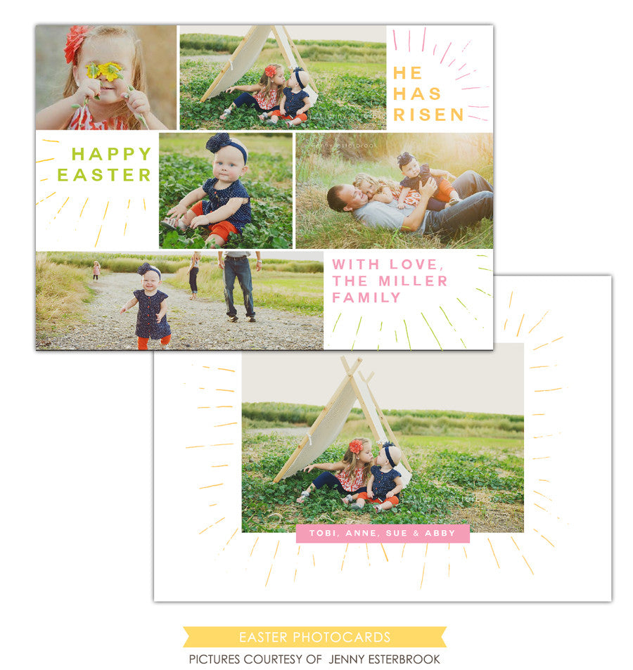 Easter photo card | Family Easter e1203
