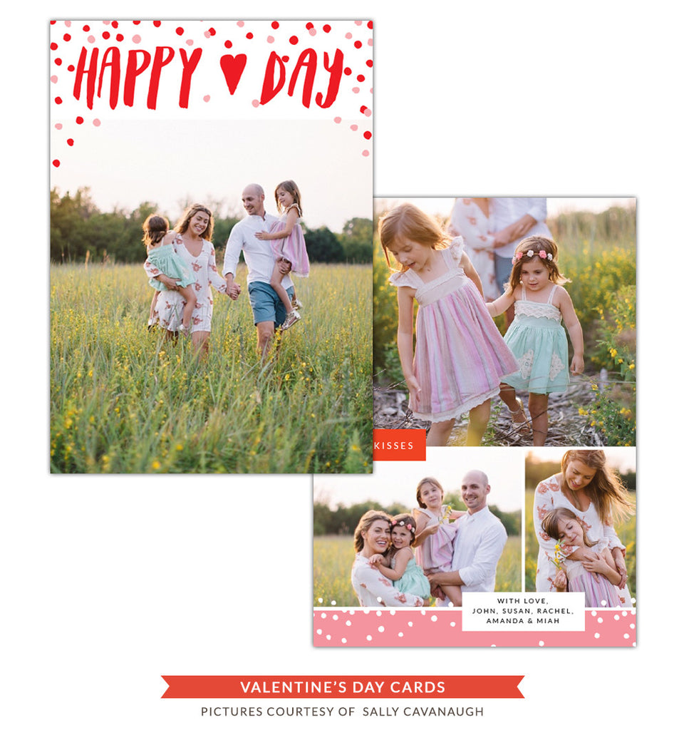 Valentine Photocard Template | Happy heart day e1251