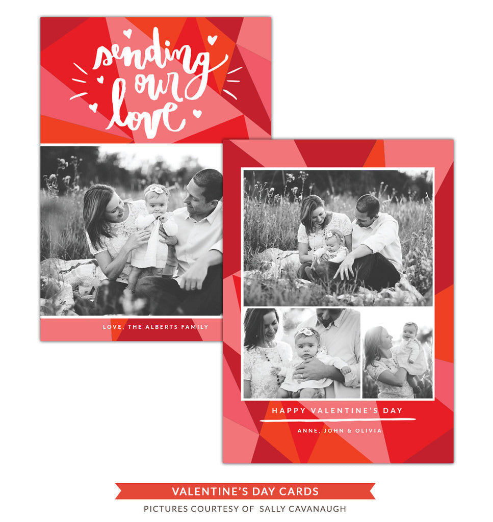 Valentine Photocard Template | Sending love e1254