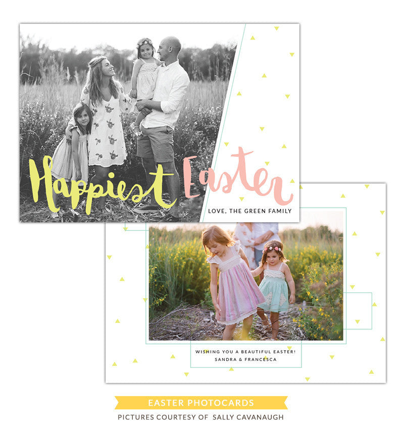 Easter Photocard Template | Happiest Easter e1266