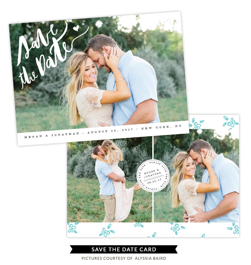 Save the Date card | Blue Wildflower e1337