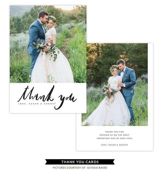 Thank You card | Love Flare e1344