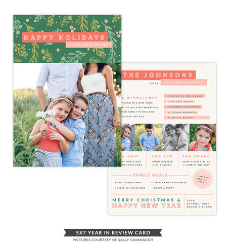 Christmas Card - A year in review | Floral Holidays e1381