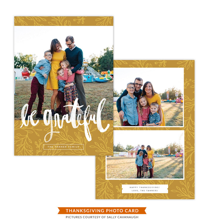 Thanksgiving Card Template | Be Grateful e1402