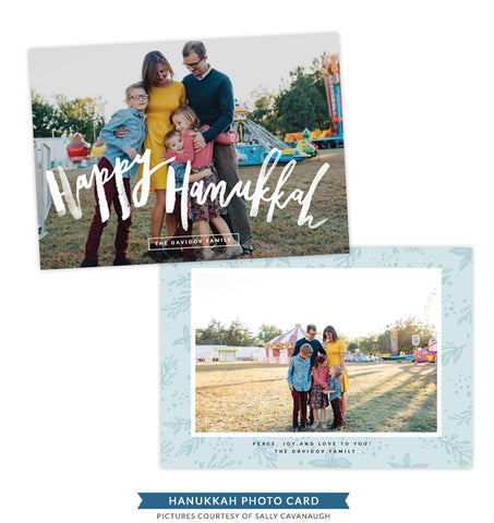 Hanukkah Photocard Template | Heart and Faith - e1409