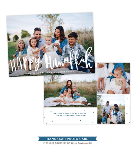 Hanukkah Photocard Template | Delightful Night - e1412