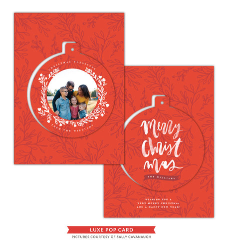 Christmas Luxe Pop Card Template | O' Christmas e1420