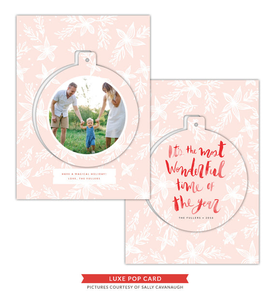 Christmas Luxe Pop Card Template | He's In Town e1421