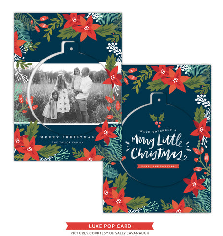 Christmas Luxe Pop Card Template | See the Snow e1423