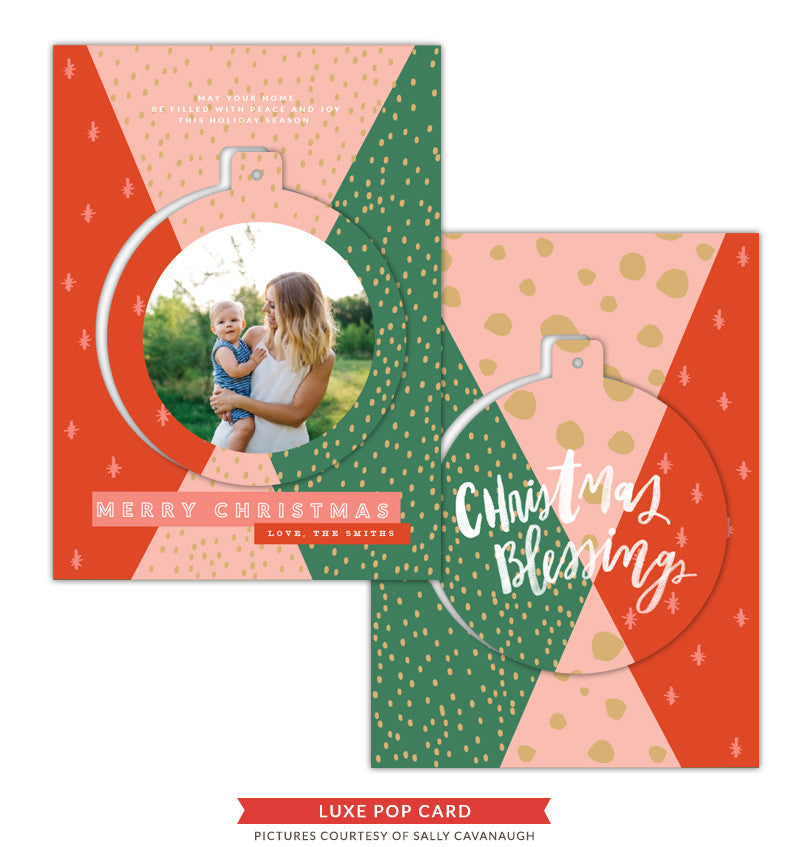 Christmas Luxe Pop Card Template | Angel Voices e1424