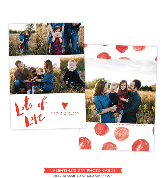 Valentine's Photocard Template | Joy and Unity e1448