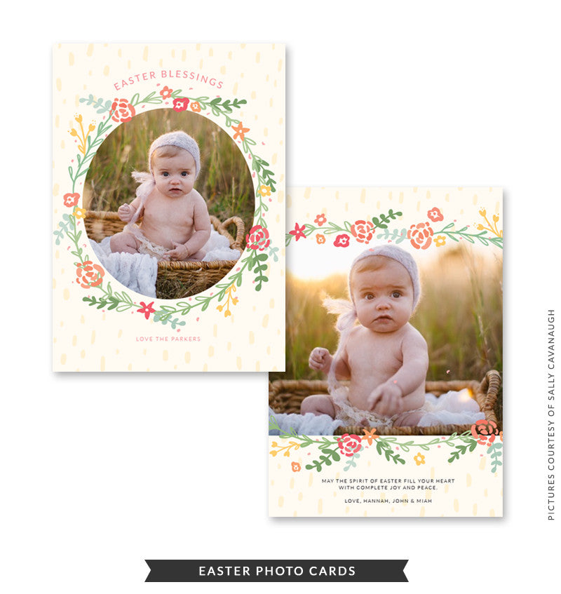 5x7 Easter Photo Card | Easter Blessings e1473