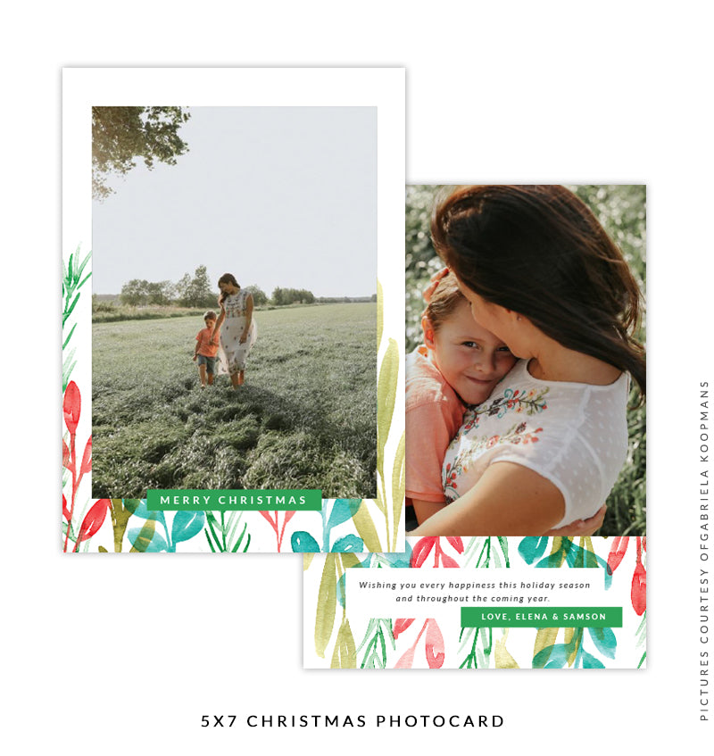 Christmas 5x7 Photo Card | Hear the Bells