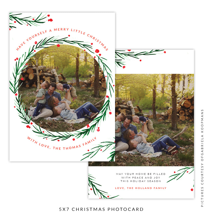 Christmas 5x7 Photo Card | Christmas Garden