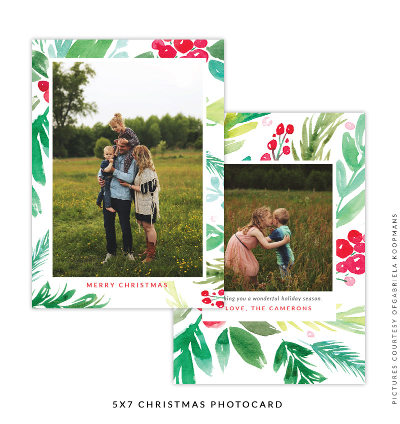 Christmas 5x7 Photo Card | Coming Back