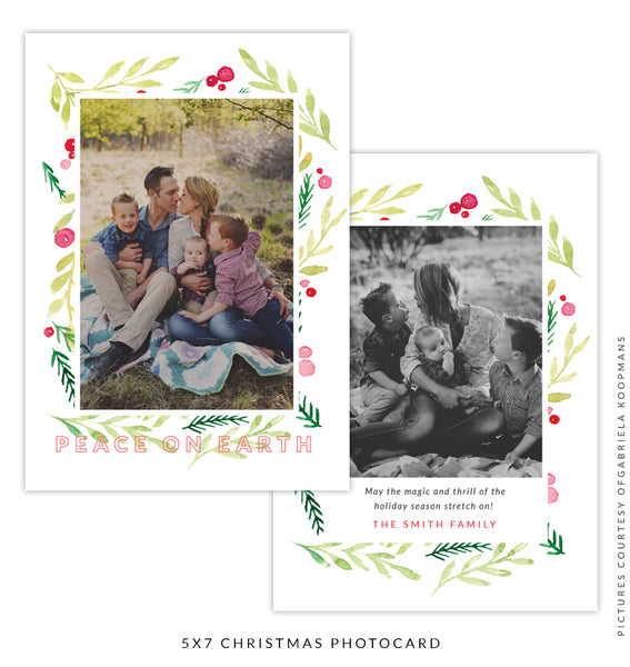 Christmas 5x7 Photo Card | Red Smiles