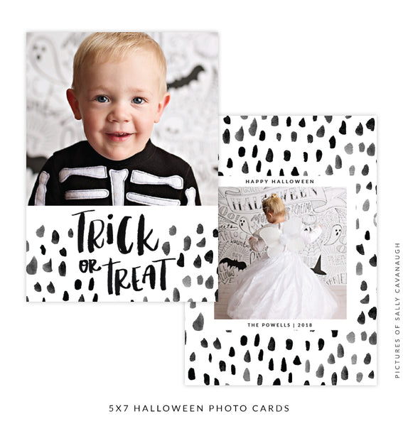 Halloween Photocard Template | Trick or Treat e1534