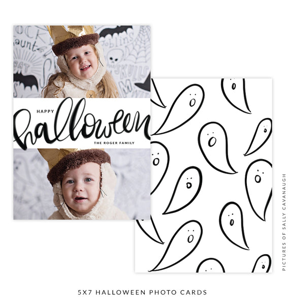 Halloween Photocard Template | Ghost Party e1538