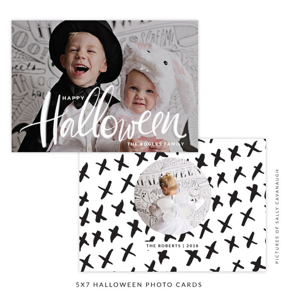 Halloween Photocard Template | Spooky Party e1539