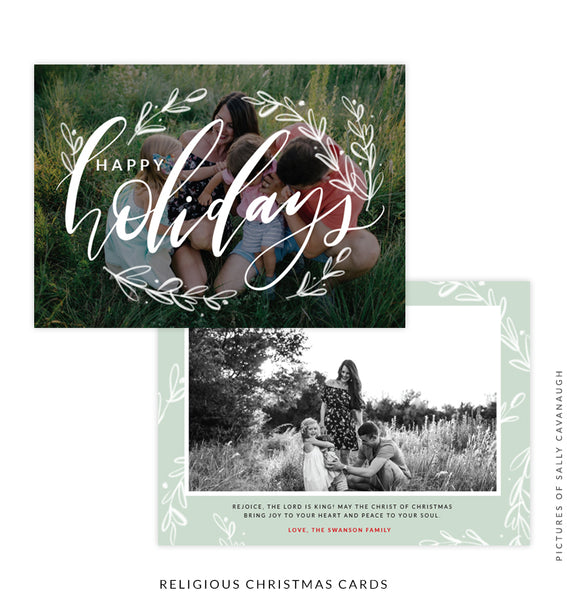 Christmas 5x7 Photo Card | Happy Holidays e1553